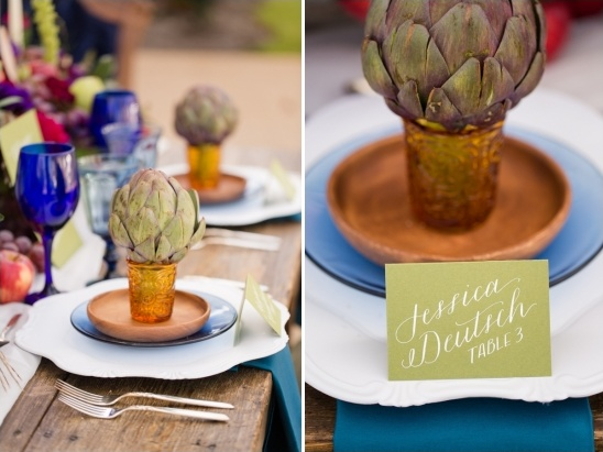 artichoke alternative wedding favor