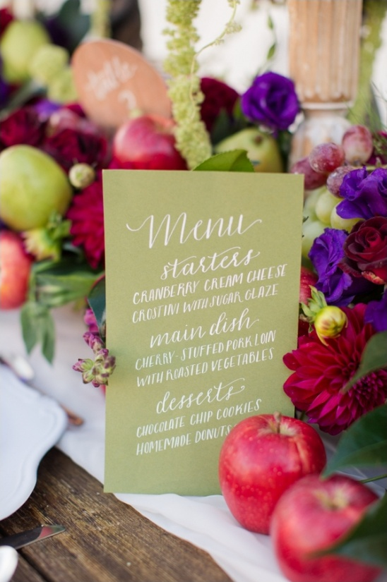 calligraphy menu by The Weekend Type