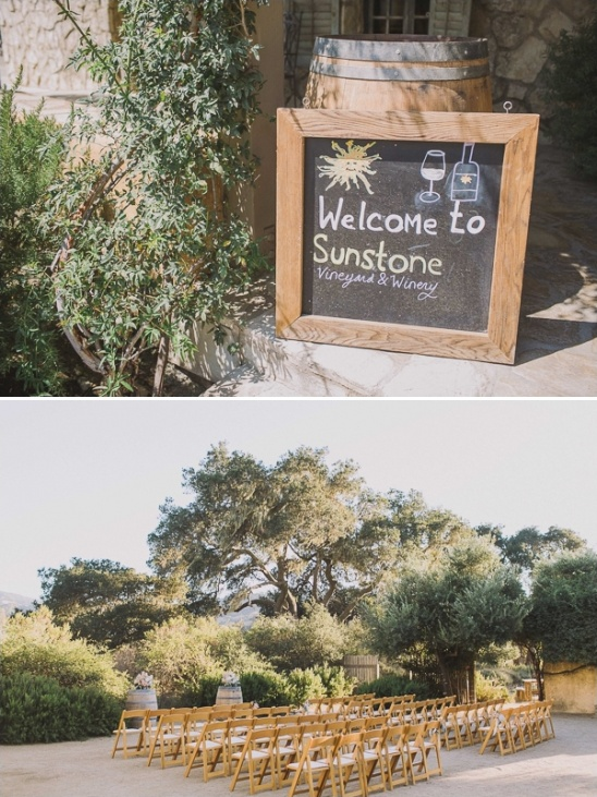 outdoor wedding ceremony at Sunstone Winery