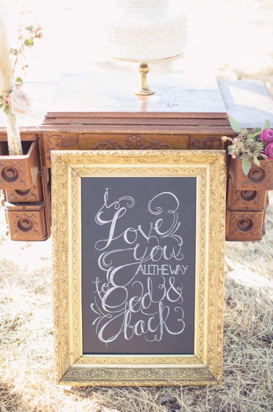 i love you to God and back chalkboard sign