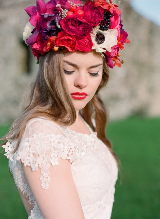 regal looking floral crown by Bo Boutique