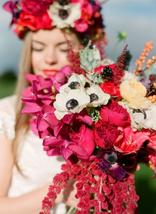 white, red, pink and purple bouquet