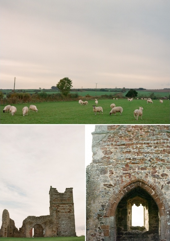 Knowlton Church ruins in England