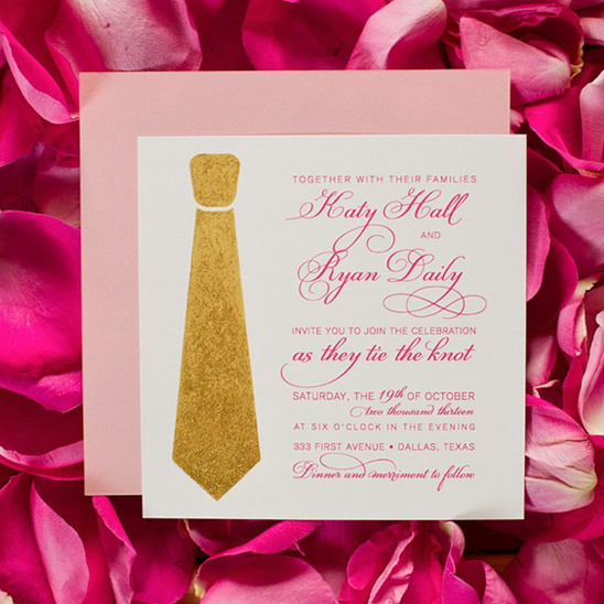 fit to be tied wedding invite