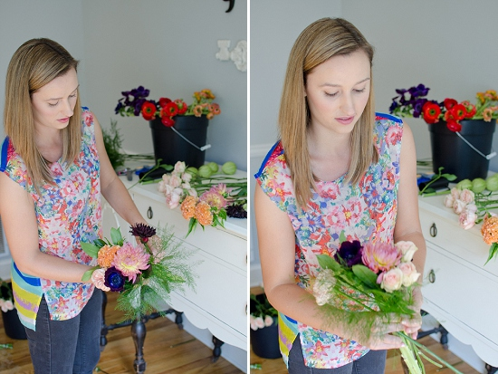 Creating a bouquet