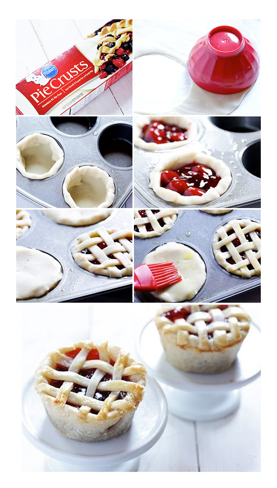 mini pies baked in a muffin tin