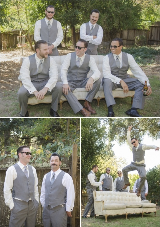 gray groomsmen ideas