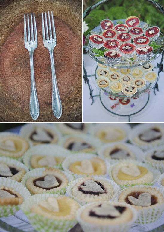 mini tarts and mr and mrs forks