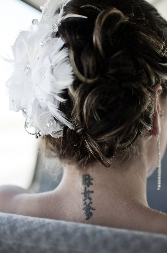 Beautiful Real Bride Brittany in Bespoke J Arends Designs Headpiece