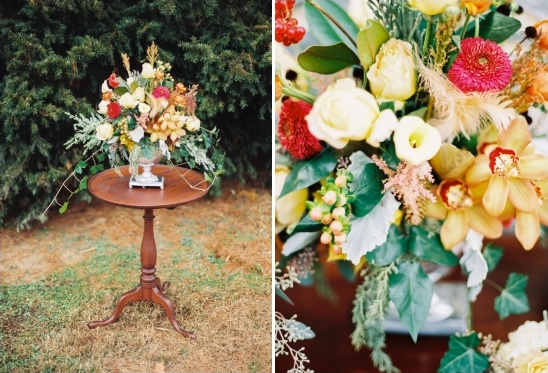 orange and yellow floral arrangements