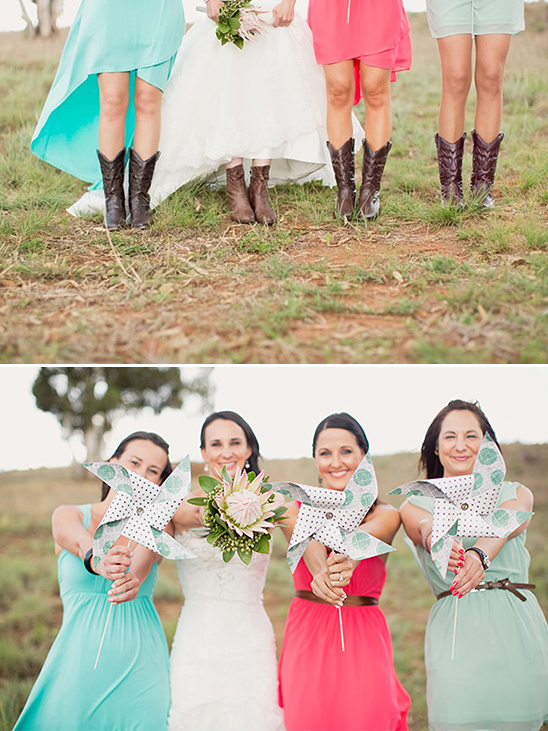 pinwheel bridesmaid ideas