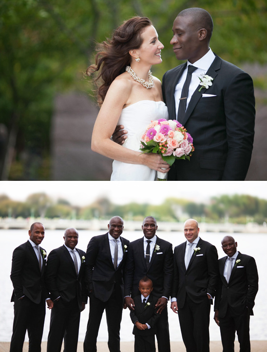 black and white groomsman ideas