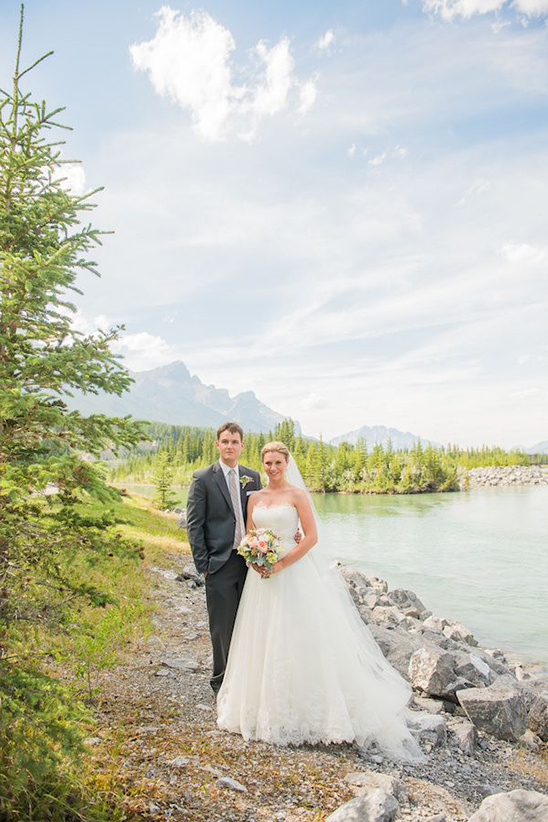 beautiful mountain wedding scenery