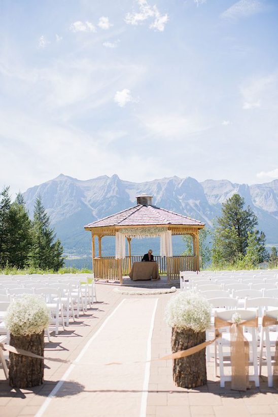 mountain gazebo wedding ceremony