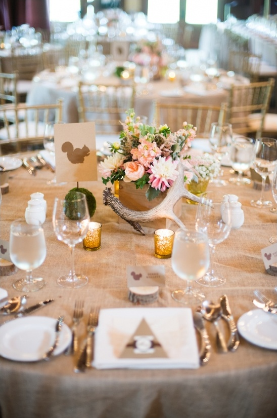 rustic woodland tablescapes