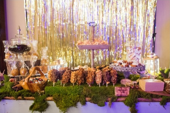 woodland themed treats table