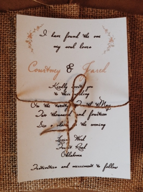 I Have Found The One My Soul Loves Wedding Invite
