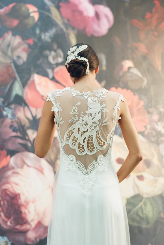Claire Pettibone Lace Wedding Gown