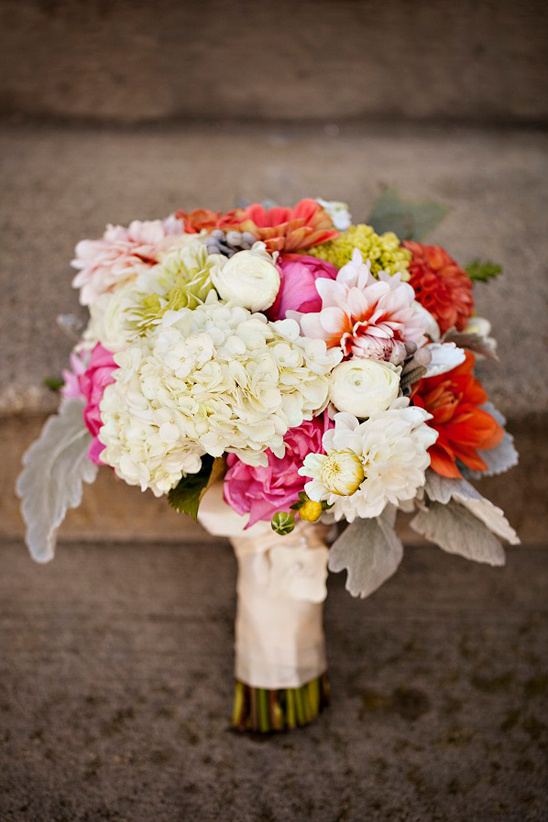bright bridal bouquet by A New Leaf Flower Shoppe
