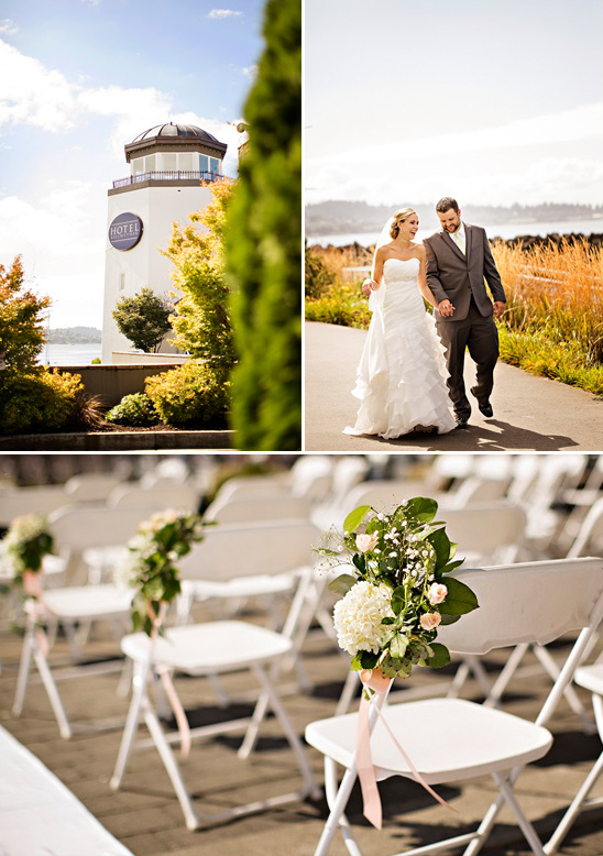 Hotel Bellwether wedding ceremony