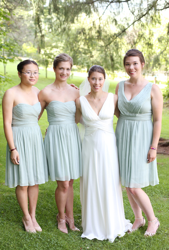 pastel mint bridesmaids