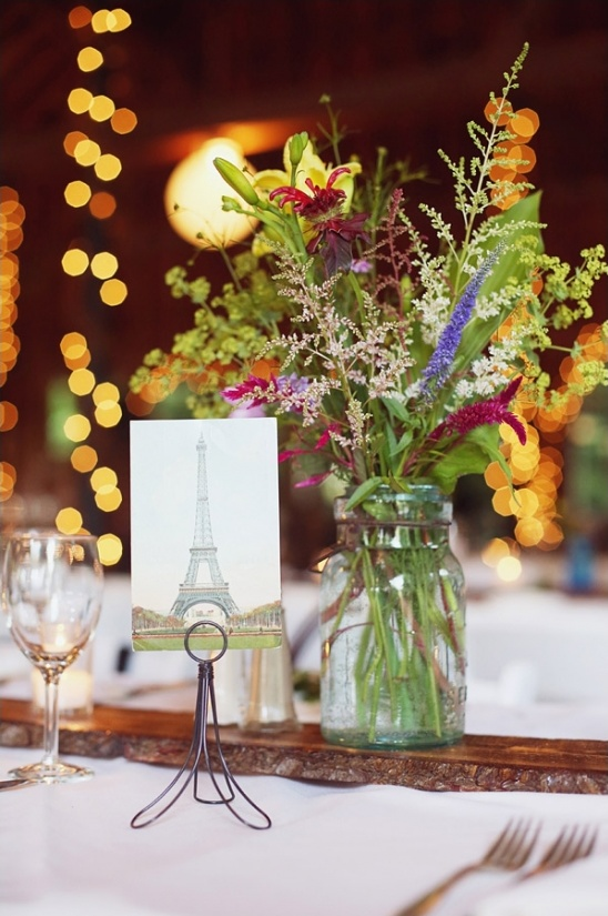 wildflower and mason jar centerpiece