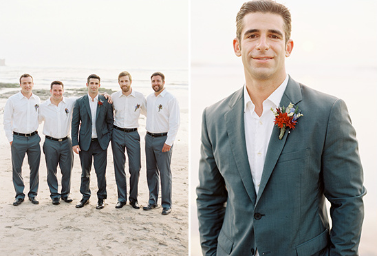 formal beach groom look