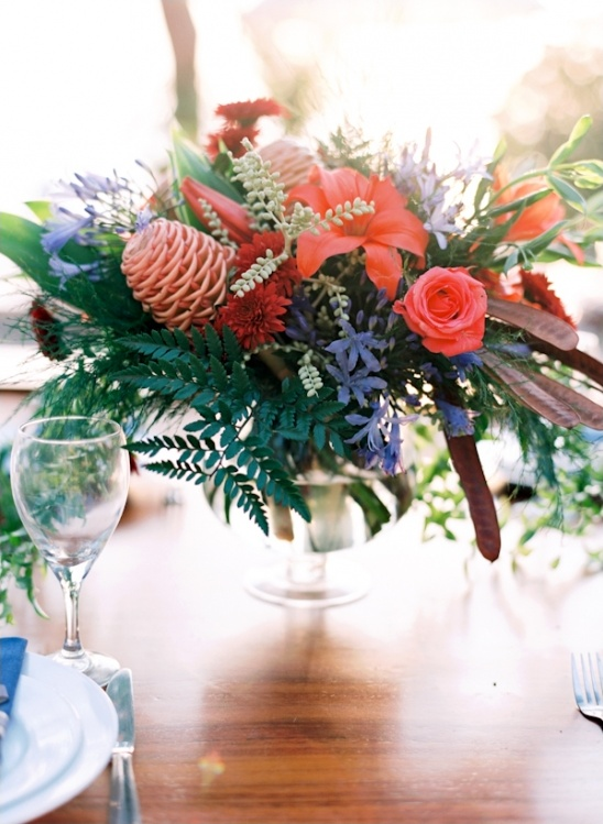 exotic floral centerpiece