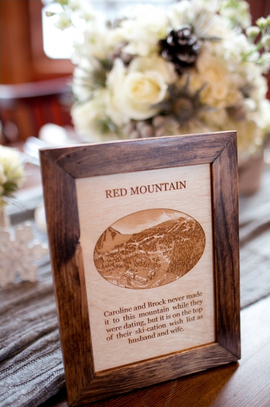 wooden mountain table signs