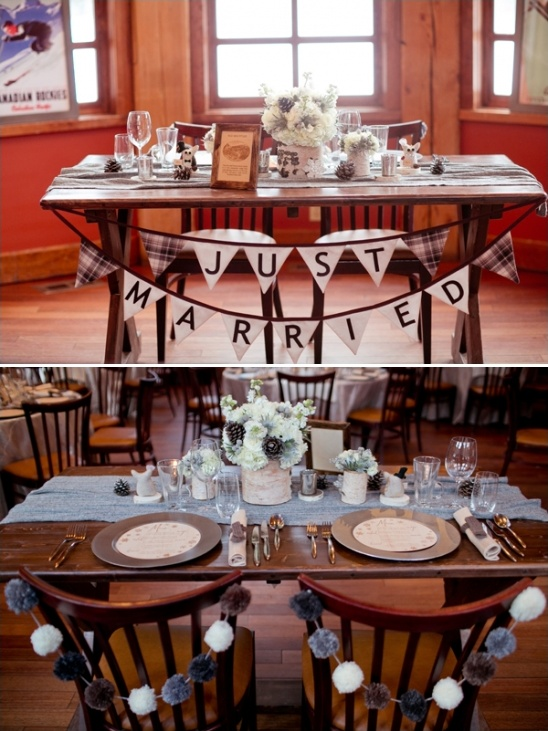 just married bunting ideas