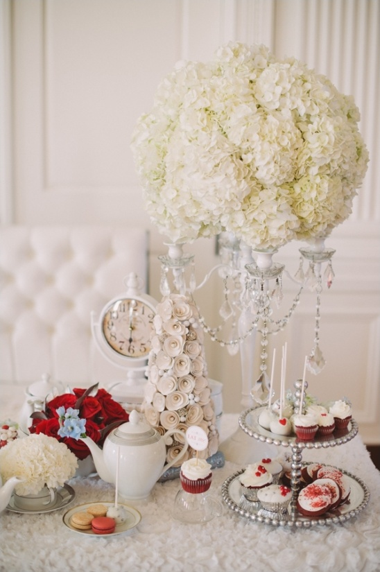 wintery wonderland tablescape