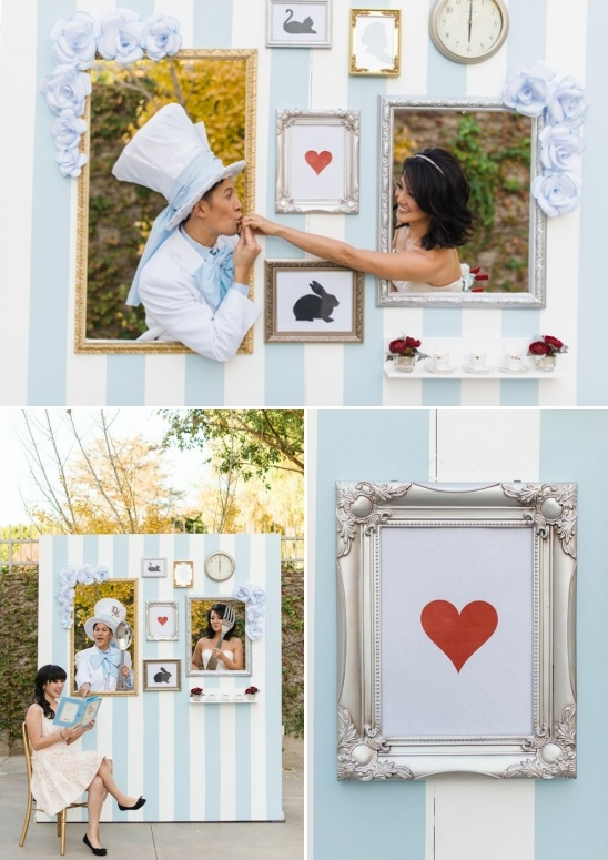 alice in wonderland themed photo booth