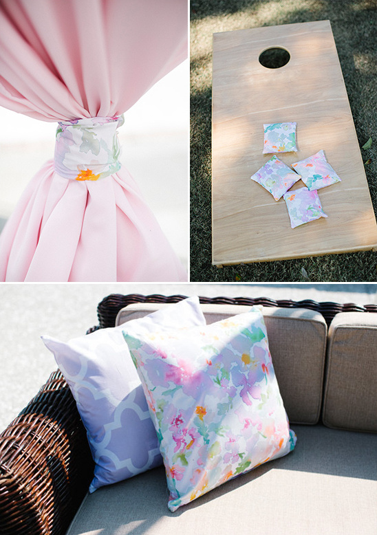 fabulous watercolor inspired fabric throughout the day
