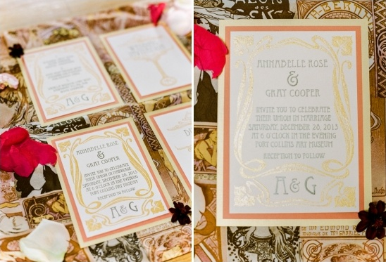 Art Nouveau wedding invite