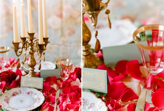 gold and red wedding ideas