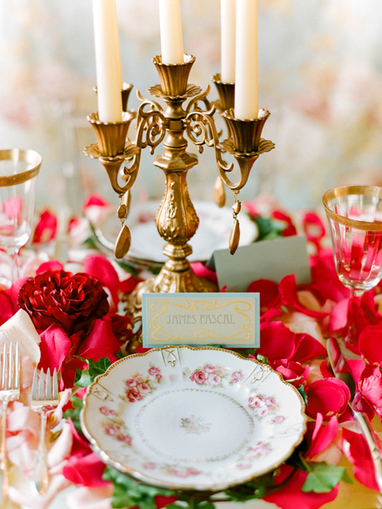 art nouveau inspired tablescape