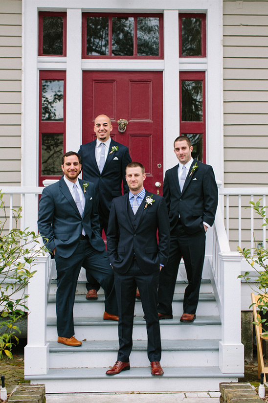 classy black and blue groomsmen ideas