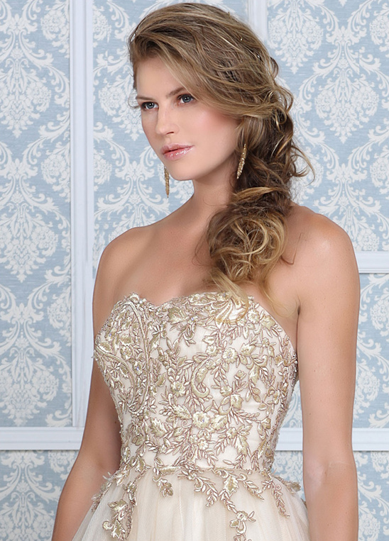 gold princess style wedding gown by Impression Bridal