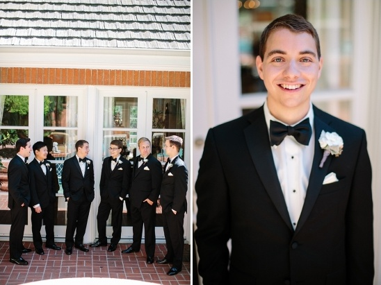 formal groom in tuxedos