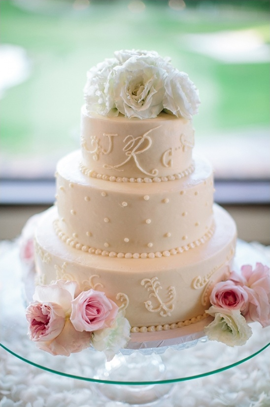 beautiful white wedding cake by Susie Cakes