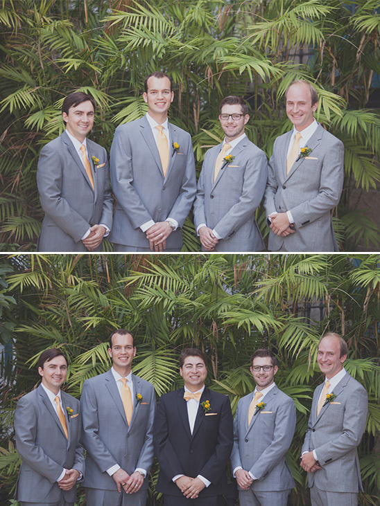 yellow and gray groomsmen ideas