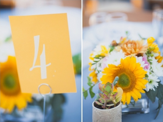 yellow wedding table ideas