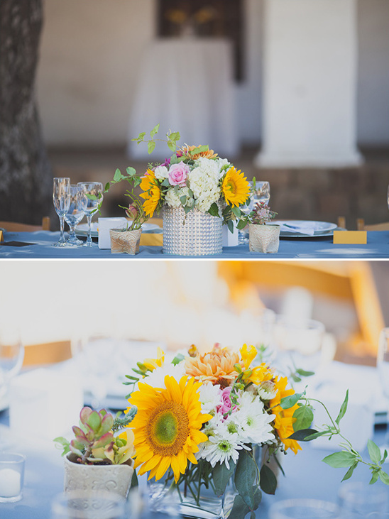 sunflower floral centerpiece ideas