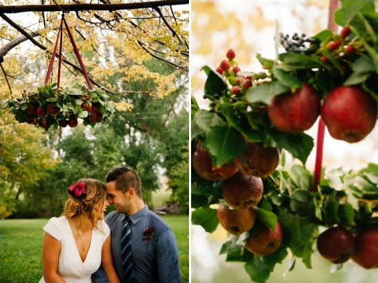 apples used for wedding decor