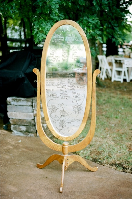 mirror seating chart ideas