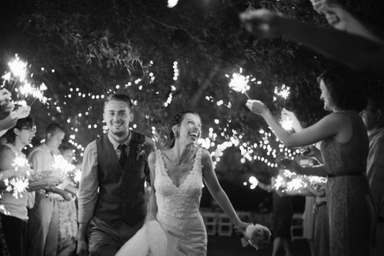sparklers for wedding exit