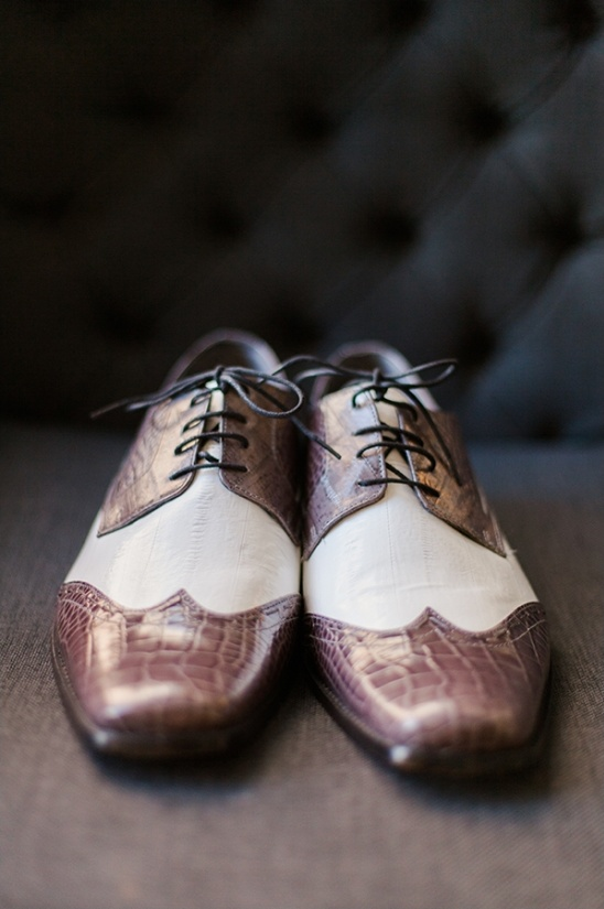 snazzy groom wedding shoes