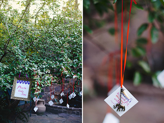 hanging wedding favors
