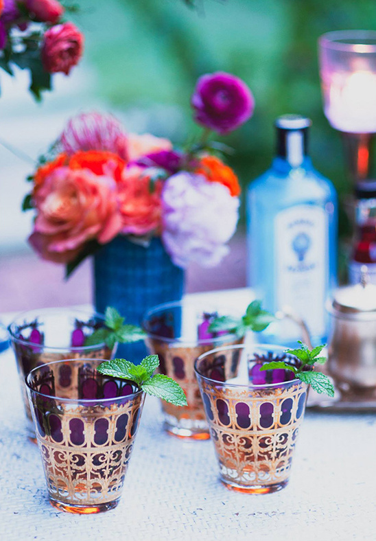 purple shot glasses