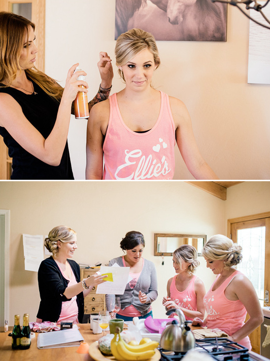 cute bridal party tanks
